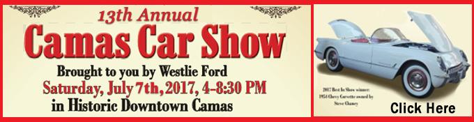 Downtown Camas Washington Car Show