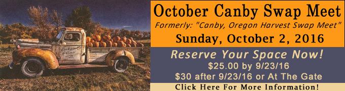 October Canby Oregon Swap Meet