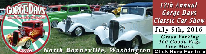 Gorge Days Car Show North Bonneville, Washington