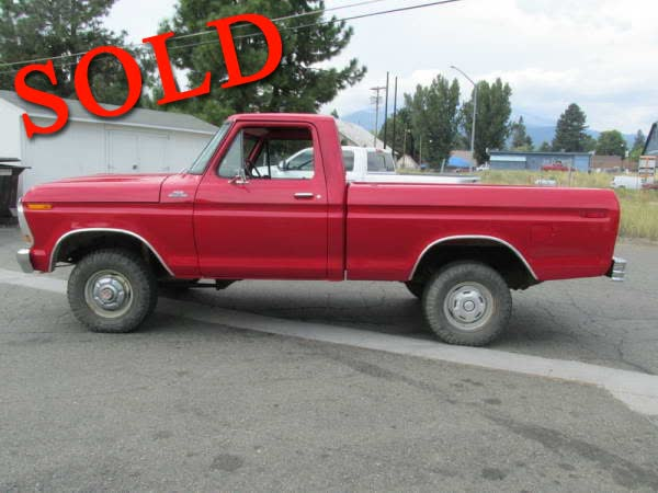 1978 Ford F150 1/2 Ton 4 Wheel Drive Short Bed Pickup Truck
