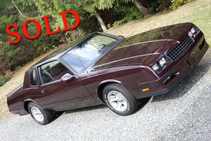 1986 Chevrolet Monte Carlo SS - Stunning 2,318 Original Mile Example!
