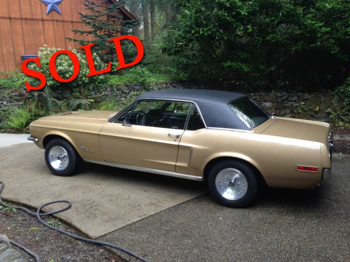 1968 Ford Mustang Coupe <font color=red>*SOLD*</font color>