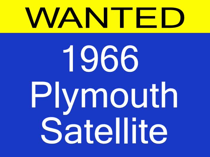 <font color=red>This is a Sample Ad</font color> WANTED: 1966 Plymouth Satellite