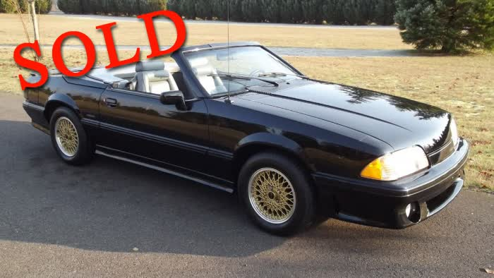 1988 Ford Mustang ASC McLaren Convertible <font color=red>*SOLD*</font color>