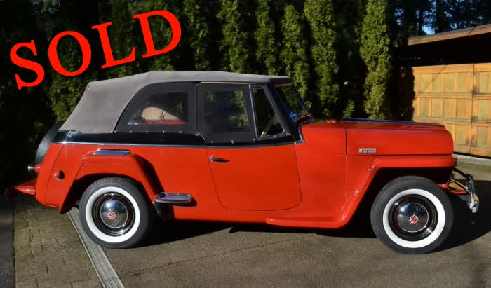 1949 Jeep Jeepster <font color=red>*SOLD*</font color>