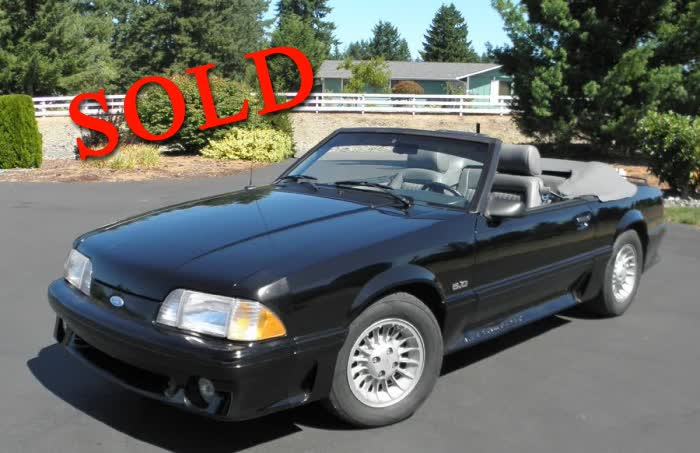 1987 Ford Mustang GT Convertible LOW MILES