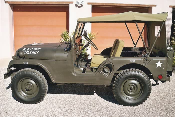 1952 Willys Jeep M38-AI and 1967 M416 Trailer