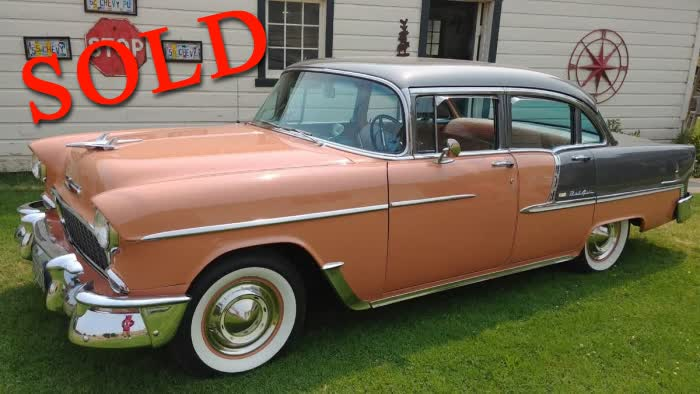 1955 Chevrolet Bel Air 4 Door Sedan Stock
