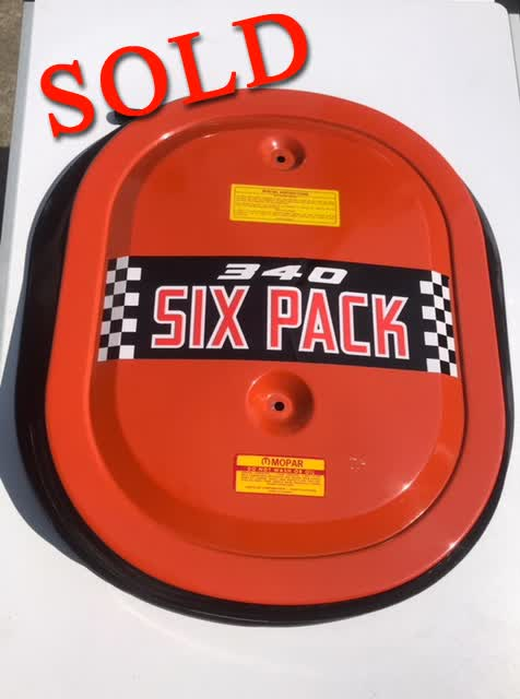 Used Part - Original 340 6 Pack Air Cleaner Assembly <font color=red>*SOLD*</font color>