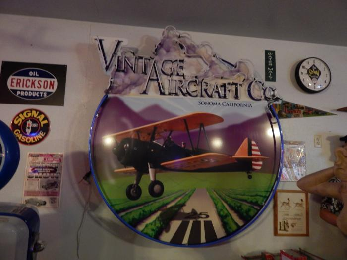 Wine and Biplane Neon Sign