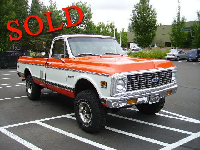 1972 Chevrolet C10 4x4 Pickup