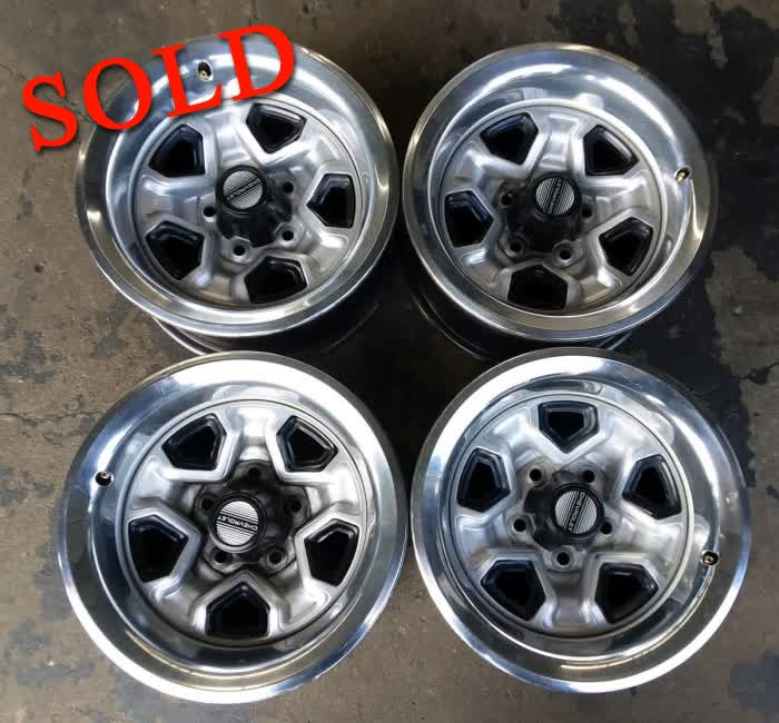 Used - Set of  Four 83-87 Chevrolet Monte Carlo SS Rally Wheels <font color=red>*SOLD*</font color>