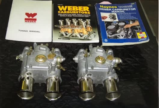 Used Parts - Pair of Italian Side Draft Weber Carburetors
