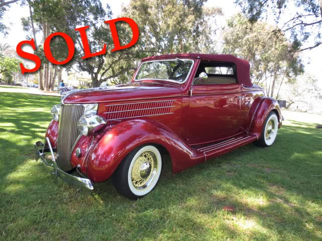 1936 Ford Deluxe Cabriolet With Rumble Seat <font color=red>*SOLD*</font color>