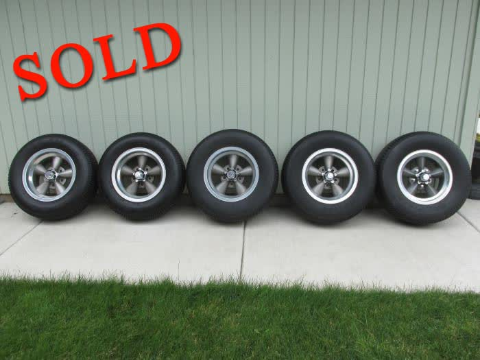 Used Parts - Five 14x7 Vintage American Mag Wheels With Tires