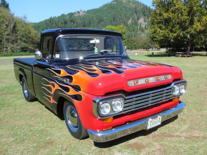 1959 Ford F100 Custom Cab Style Side, Short Bed Pickup