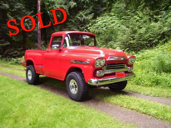 1959 Chevrolet Apache 4x4 Pickup <font color=red>*SOLD*</font color>