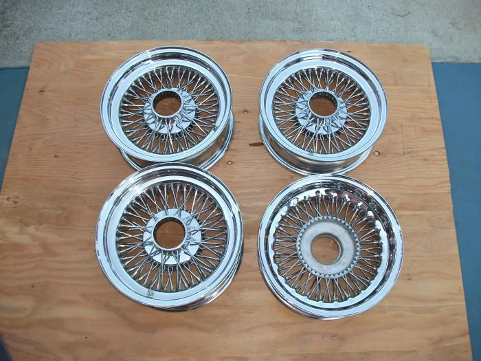 Zenith Wire Wheels With Brass 3 Wing Short Knock Offs
