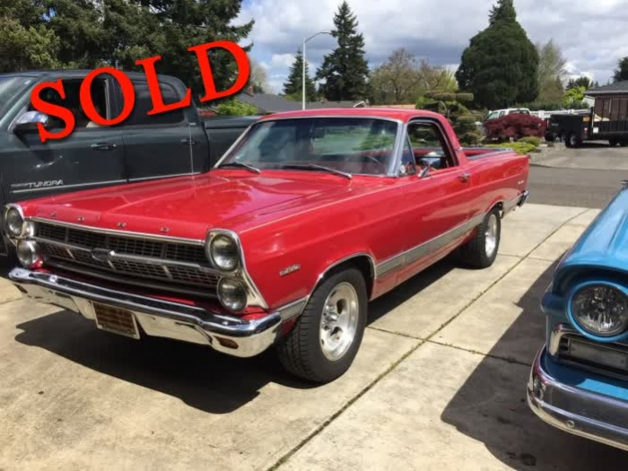 1967 Ford Fairlane 500 XL Ranchero <font color=red>*SOLD*</font color>