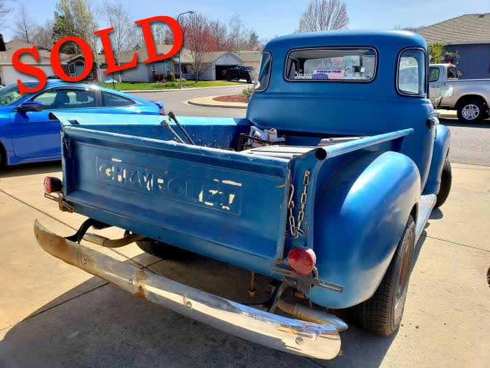 1951 Chevrolet 3100 5 Window Truck <font color=red>*SOLD*</font color>