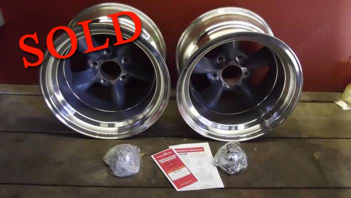 Two 15 x 10 Torque Thrust D&#39;s- Chevy Bolt Pattern Brand New In Box <font color=red>*SOLD*</font colo