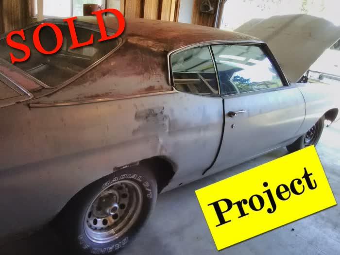 1971 Chevrolet Chevelle Restoration Project Car <font color=red>*SOLD*</font color>