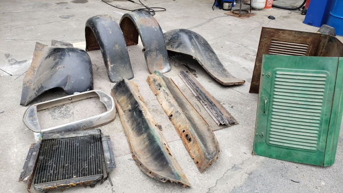 Used Parts - 1930 Ford Model A Parts Fenders Cowl and More