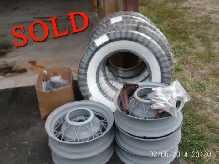 Used Parts - 1935 Ford Wheels & Tires <font color=red>*SOLD*</font color>