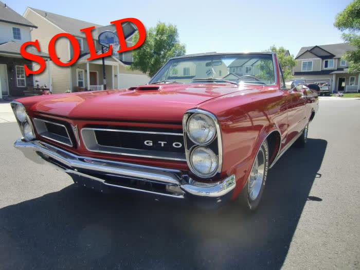 1965 Pontiac GTO Convertible <font color=red>*SOLD*</font color>