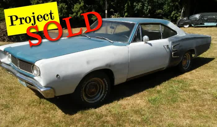 1968 Dodge Coronet Project <font color=red>*SOLD*</font color>