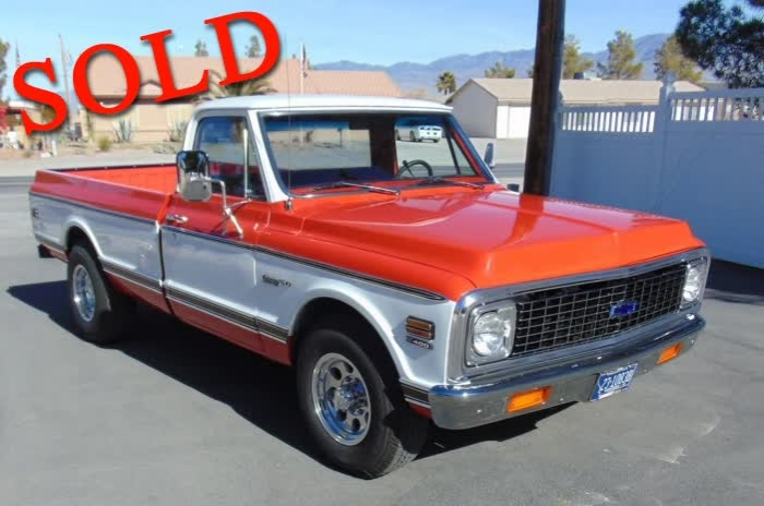 1972 Chevrolet C20 Custom Deluxe <font color=red>*SOLD*</font color>