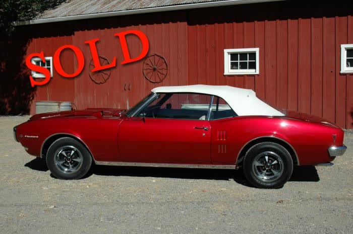 1968 Pontiac Firebird Convertible Restored Rare Beauty <font color=red>*SOLD*</font color>