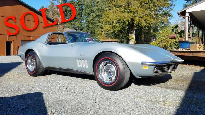 1969 Chevrolet Corvette Sport Coupe T-Top C3 Numbers Matching