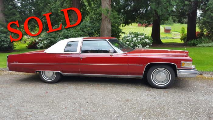 1975 Cadillac Coupe Deville <font color=red>*SOLD*</font color>