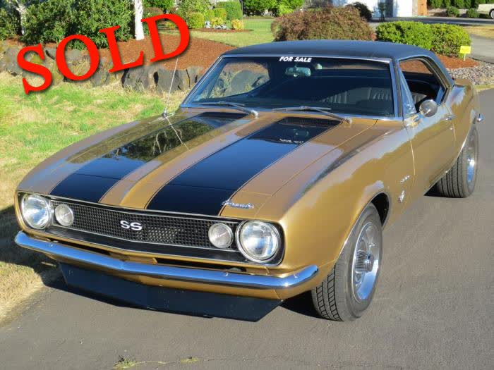 1967 Chevrolet Camaro <font color=red>*SOLD*</font color>