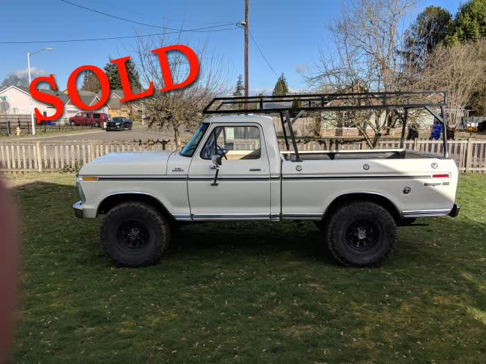 1977 Ford F150 Short Bed XLT 4 X 4 <font color=red>*SOLD*</font color>