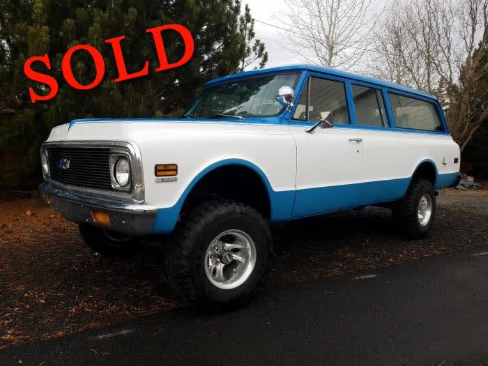 1970 Chevrolet Suburban 3 Door 4X4 <font color=red>*SOLD*</font color>
