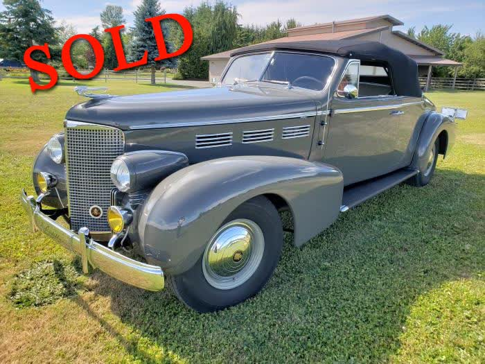 1938 Cadillac 75 Series Convertible Coupe <font color=red>*SOLD*</font color>