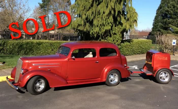 1936 Chevrolet 2 Door Custom Sedan w/ Matching Coca Cola Trailer <font color=red>*SOLD*</font color>