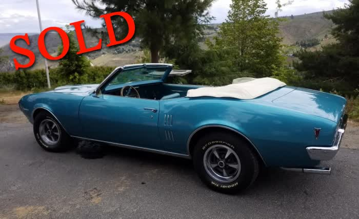 1968 Pontiac Firebird Convertible 350 <font color=red>*SOLD*</font color>