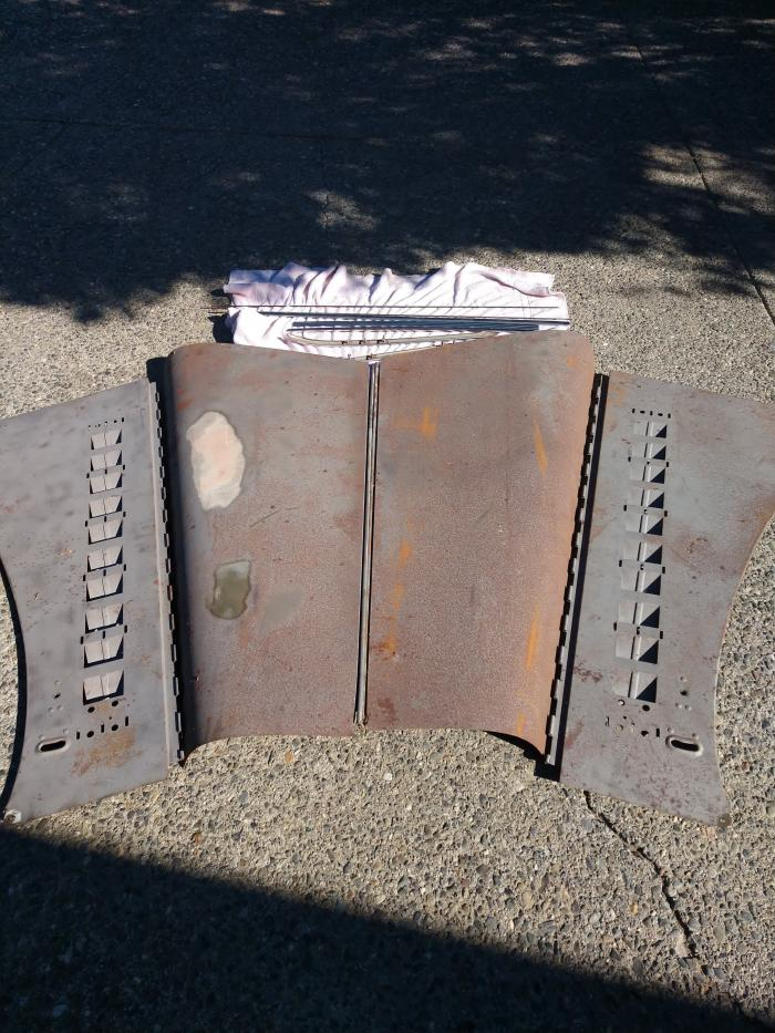 Used Parts - 1935 DeSoto Engine Cowling and Opera Window