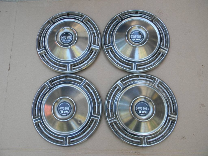 Used Parts - Vintage Chevrolet SS Hubcaps (2 Sets) SS and 396