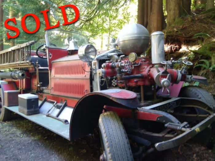 1926 Ahrens Fox Fire Truck Piston Pumper #1664 <font color=red>*SOLD*</font color>