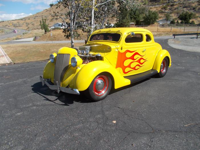1936 Ford Model 68 5 Window Chopped Coupe