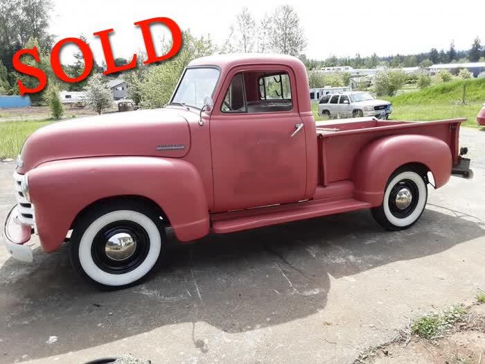 1951 Chevrolet Pick Up <font color=red>*SOLD*</font color>