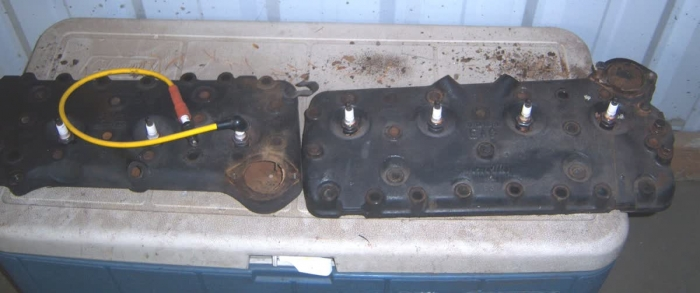 Used Parts - Pair of 1953 Mercury Flathead Heads