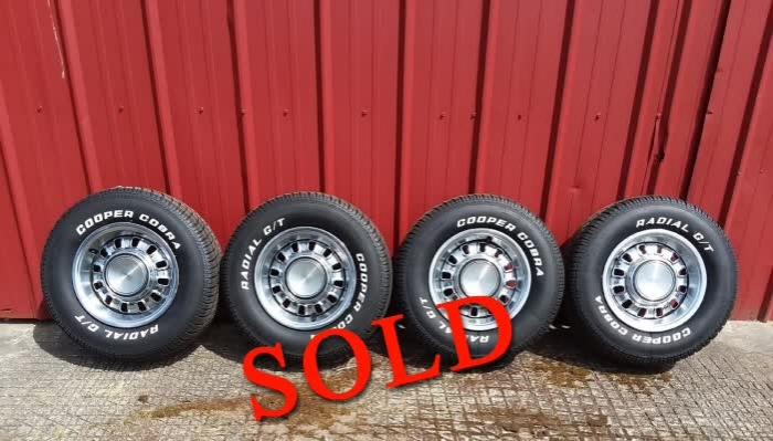 Complete Set of Original Chrome Styled Steel Wheels <font color=red>*SOLD*</font color>