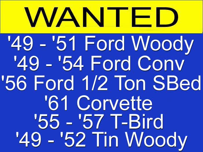 WANTED - Read Ad For Details