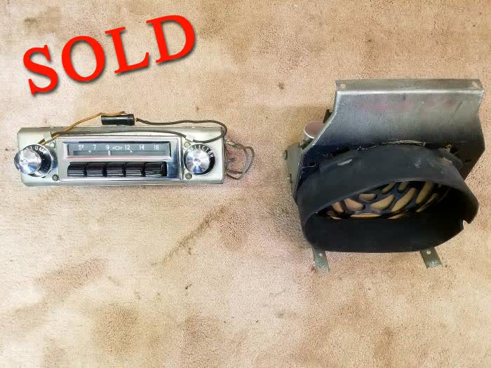 Used Part - 1956 Chevrolet Belair Deluxe Radio W/ Deluxe Speaker <font color=red>*SOLD*</font color>