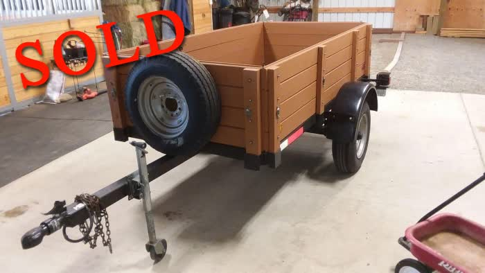 4 x 8 Trailer With Sideboards <font color=red>*SOLD*</font color>
